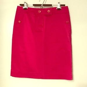 Pink pencil skirt from J. Crew